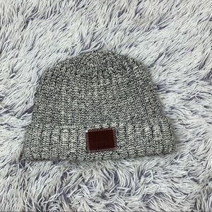 Love Your Melon Gray Knit Beanie Hat One Size